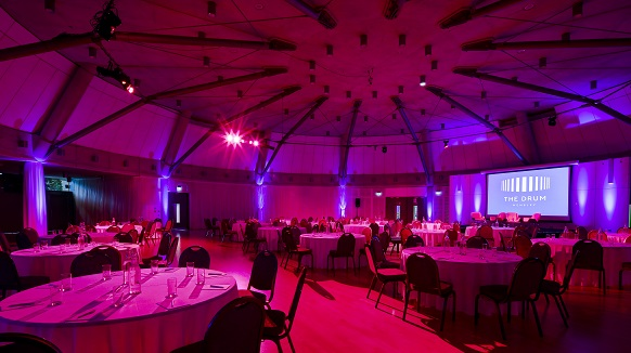 The Grand Hall Red Lighting